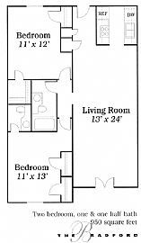 Outstanding 2 Bedroom Apartment with 950 Sq. Ft.