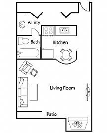 Studio Apartment - Perfect For One Or Two People