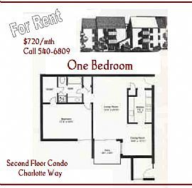 Spacious One Bedroom Condo with Fresh Paint and New Carpet